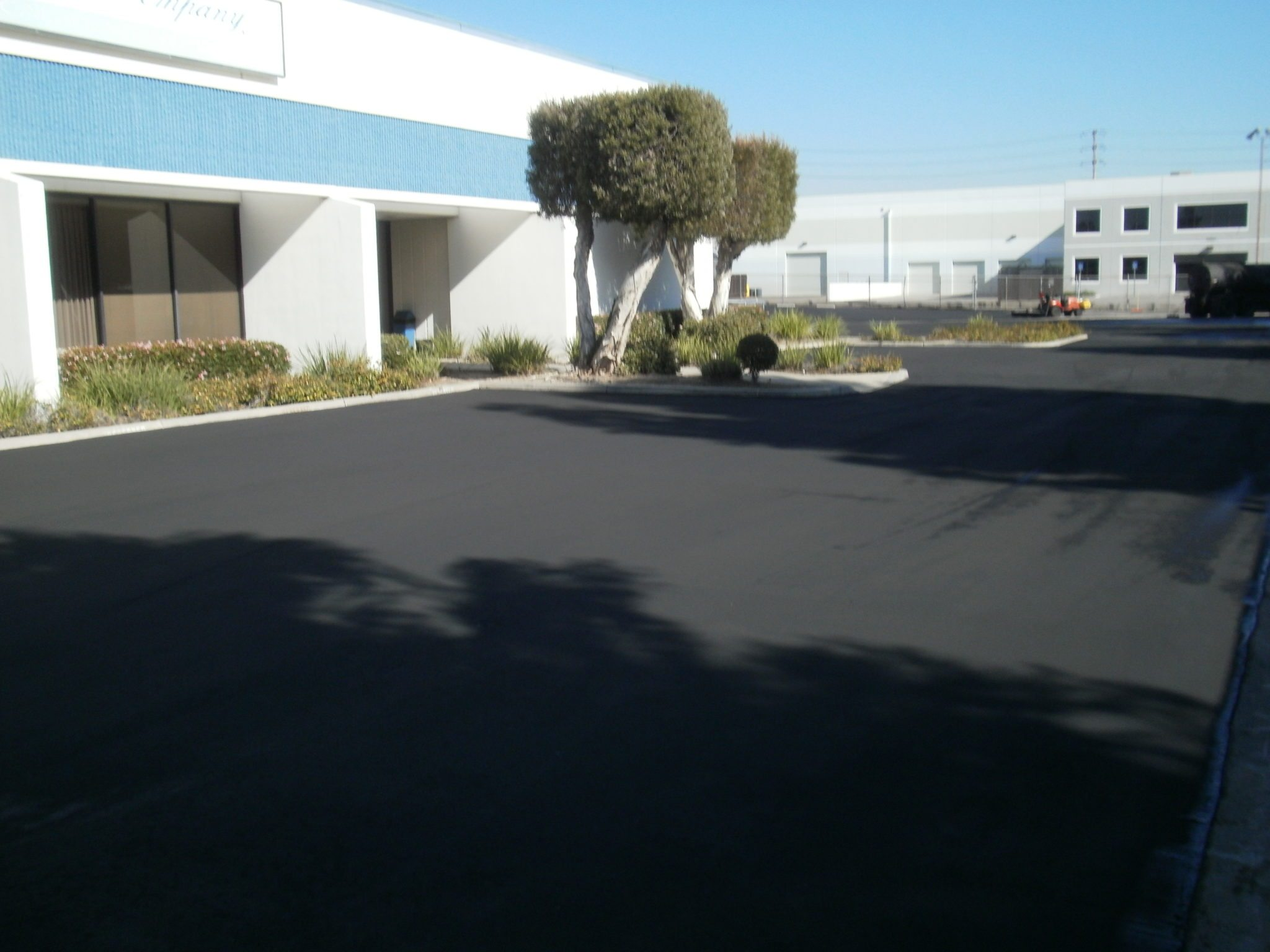 La Mirada Industrial Facility after 2 coats of sealcoat